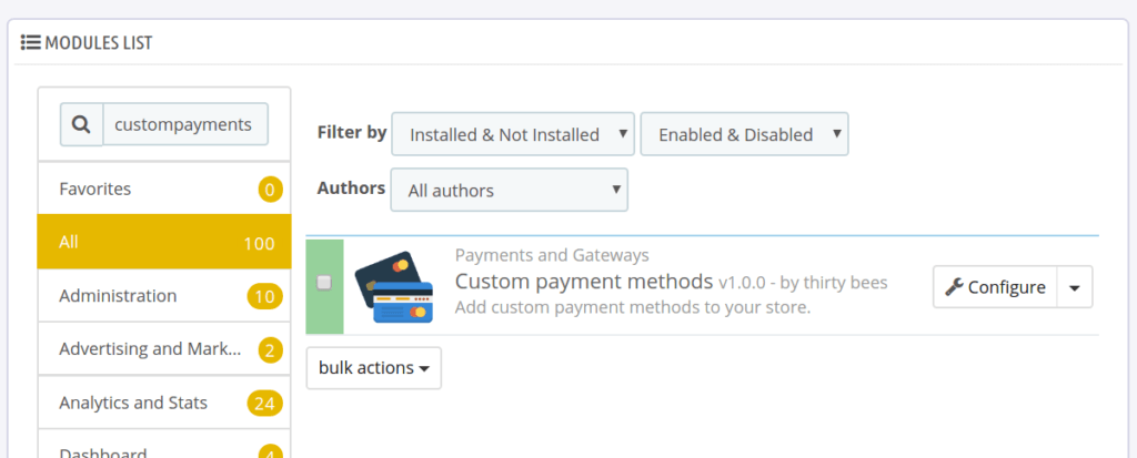New module: custom payment methods | thirty bees