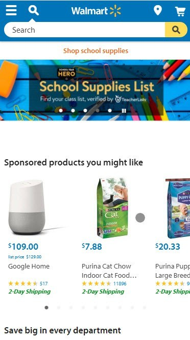 Walmart Home Page